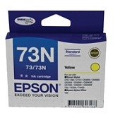 EPSON Yellow Ink Cartridge 73N [C13T105490] - Tinta Printer Epson